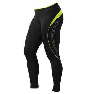 Fitness Long Tights, black/lime, Better Bodies i gruppen Produktkyrkogården hos Sportgymbutiken.se (BB-110682-963r)