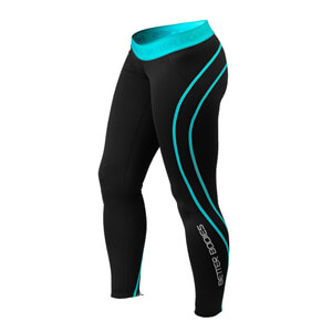 Athlete Tights, black/aqua, Better Bodies i gruppen Kläder / Dam / Byxor / Träningstights hos Sportgymbutiken.se (BB-110712-996r)