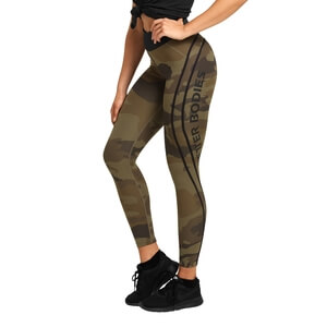 Camo High Tights, dark green camo, Better Bodies