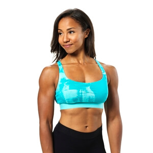 Kolla in Fitness Short Top, aqua print, Better Bodies hos SportGymButiken.se