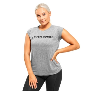 Kolla in Astoria Tee, grey melange, Better Bodies hos SportGymButiken.se