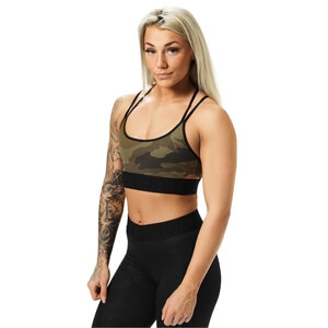 Kolla in Astoria Sports Bra, dark green camo, Better Bodies hos SportGymButiken.