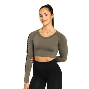 Kolla in Bowery Cropped Ls, wash green, Better Bodies hos SportGymButiken.se