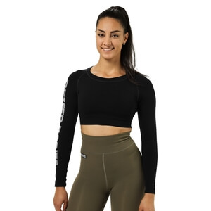 Kolla in Bowery Cropped Ls, black, Better Bodies hos SportGymButiken.se