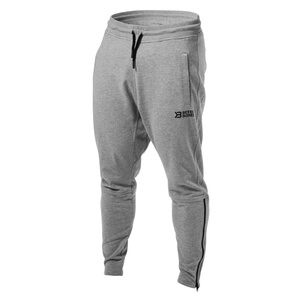 Kolla in Harlem Zip Pants, grey melange, Better Bodies hos SportGymButiken.se