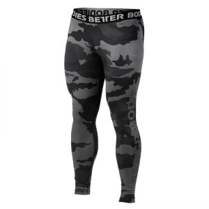 Kolla in Hudson Logo Tights, dark camo, Better Bodies hos SportGymButiken.se