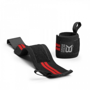 Kolla in Elastic Wrist Wraps, black/red, Better Bodies hos SportGymButiken.se