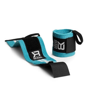 Kolla in Womens Wrist Wraps, aqua/white, Better Bodies hos SportGymButiken.se