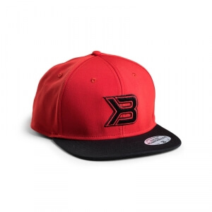 Kolla in Flat Bill Cap, red/black, Better Bodies hos SportGymButiken.se