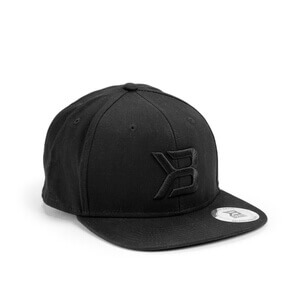 Kolla in Twill Flat Bill Cap, black, Better Bodies hos SportGymButiken.se