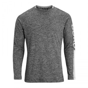 Kolla in Aaron Long Sleeve Tee, black beauty melange, Björn Borg hos SportGymBut