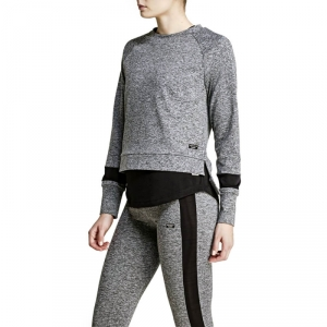 Kolla in Calista Long Sleeve Sweatshirt, new black melange, Björn Borg hos Sport