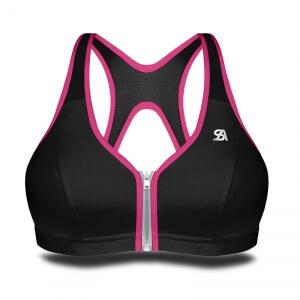 Zipped Bra, black/pink, Shock Absorber