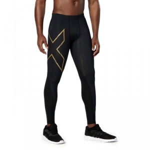 Elite MCS Compression Tights, black/gold, 2XU i gruppen Kläder / Herr / Byxor / Kompression hos Sportgymbutiken.se (E-M-100554r)