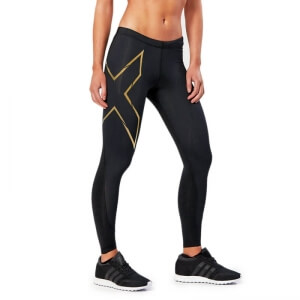 Elite MCS Compression Tights, black/gold, 2XU i gruppen Kläder / Dam / Byxor / Träningstights hos Sportgymbutiken.se (E-W-100700r)