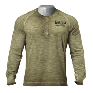 Kolla in The 27th Long Sleeve, military olive, GASP hos SportGymButiken.se