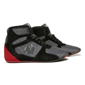 Kolla in Perry High Tops Pro, grey/black/red, Gorilla Wear hos SportGymButiken.s