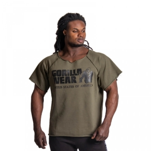 Kolla in Classic Workout Top, army green, Gorilla Wear hos SportGymButiken.se
