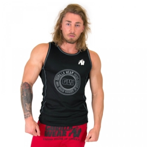 Kolla in Kenwood Tank Top, black/silver, Gorilla Wear hos SportGymButiken.se