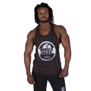 Kolla in Mill Valley Tank Top, black, Gorilla Wear hos SportGymButiken.se