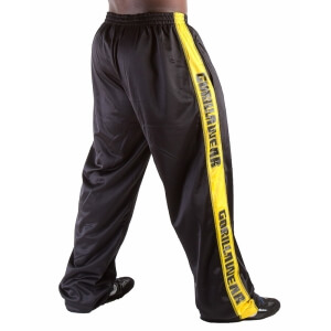 Track Pants, black/yellow, Gorilla Wear | SportGymButiken.se