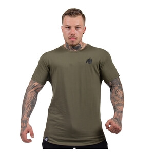 Kolla in Detroit T-Shirt, army green, Gorilla Wear hos SportGymButiken.se