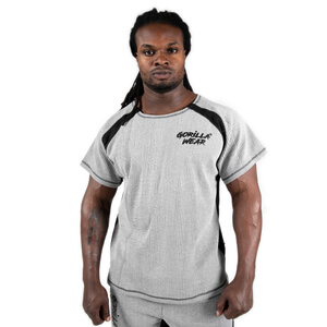 Kolla in Augustine Old School Work Out Top, grey, Gorilla Wear hos SportGymButik