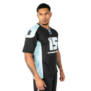 Athlete T-Shirt 2.0 (Brandon Curry), black/light blue, Gorilla Wear