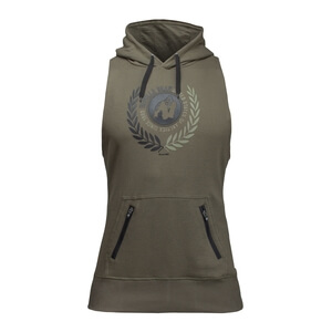 Kolla in Manti Sleeveless Hoodie, army green, Gorilla Wear hos SportGymButiken.s