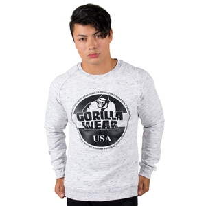 Kolla in Bloomington Crewneck Sweatshirt, mixed gray, Gorilla Wear hos SportGymB