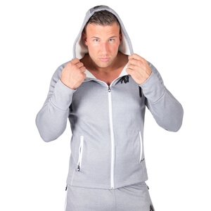 Kolla in Bridgeport Zipped Hoodie, silver blue, Gorilla Wear hos SportGymButiken