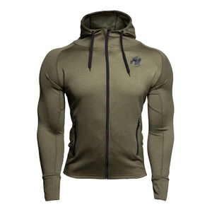 Kolla in Bridgeport Zipped Hoodie, army green, Gorilla Wear hos SportGymButiken.