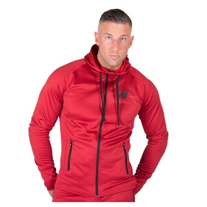 Kolla in Bridgeport Zipped Hoodie, red, Gorilla Wear hos SportGymButiken.se
