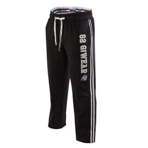 82 Sweat Pants, svart/vit, Gorilla Wear | SportGymButiken.se