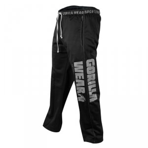Logo Mesh Pants, black, Gorilla Wear