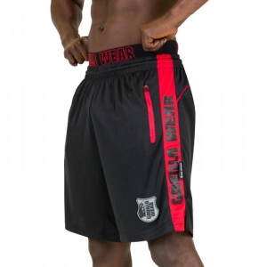 Kolla in Shelby Shorts, black/red, Gorilla Wear hos SportGymButiken.se