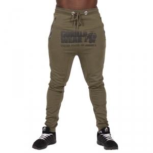 Alabama Drop Crotch Joggers, army green, Gorilla Wear