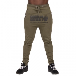 Kolla in Alabama Drop Crotch Joggers, army green, Gorilla Wear hos SportGymButik