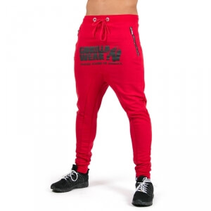 Alabama Drop Crotch Joggers, red, Gorilla Wear