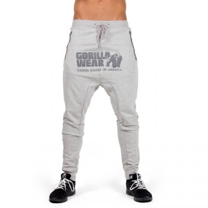 Kolla in Alabama Drop Crotch Joggers, grey, Gorilla Wear hos SportGymButiken.se