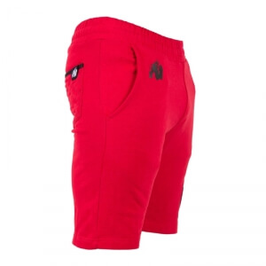 Kolla in Los Angeles Sweat Shorts, red, Gorilla Wear hos SportGymButiken.se