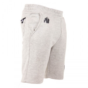 Kolla in Los Angeles Sweat Shorts, grey, Gorilla Wear hos SportGymButiken.se