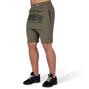 Kolla in Alabama Drop Crotch Shorts, army green, Gorilla Wear hos SportGymButike