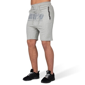 Kolla in Alabama Drop Crotch Shorts, grey, Gorilla Wear hos SportGymButiken.se