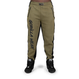 Kolla in Augustine Old School Pants, army green, Gorilla Wear hos SportGymButike