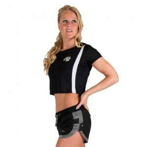 Kolla in Columbia Crop Top, black/white, Gorilla Wear hos SportGymButiken.se