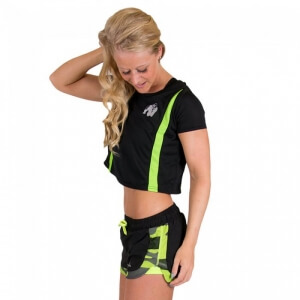 Kolla in Columbia Crop Top, black/lime, Gorilla Wear hos SportGymButiken.se