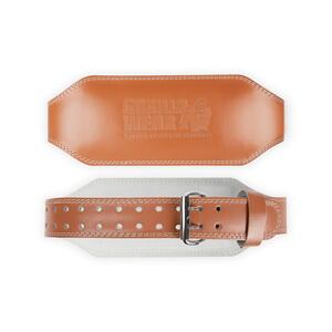 6 Inch Padded Leather Belt, brown, Gorilla Wear