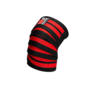 Knee Wraps, black/red, 2.5 m, Gorilla Wear