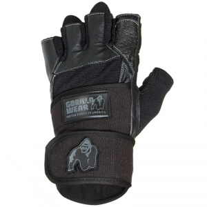 Kolla in Dallas Wrist Wrap Gloves, black, Gorilla Wear hos SportGymButiken.se